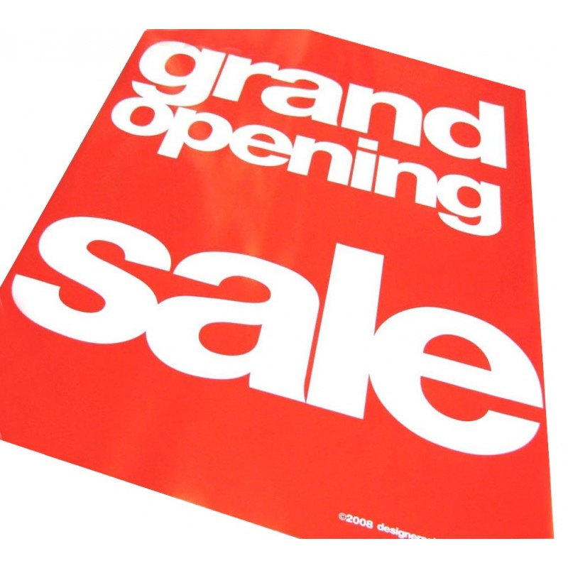 """""""GRAND OPENING SALE"""" Signs/ Posters - 4 pack"""