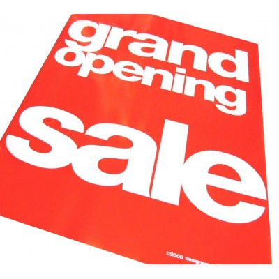 """GRAND OPENING SALE"" Signs/ Posters - 4 pack"