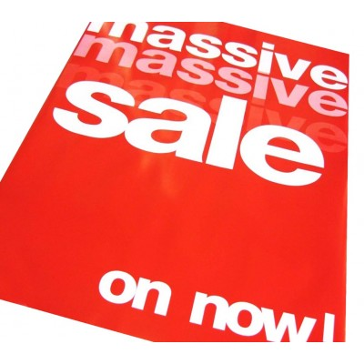 MASSIVE SALE ON NOW - Sale Signs/Posters - 4 pack
