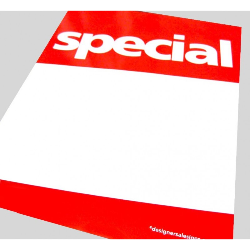 """""""SPECIAL"""" Signs/Posters with writeable panel - 4 pack"""