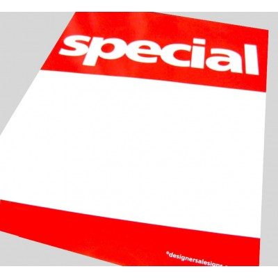 """SPECIAL"" Signs/Posters with writeable panel - 4 pack"