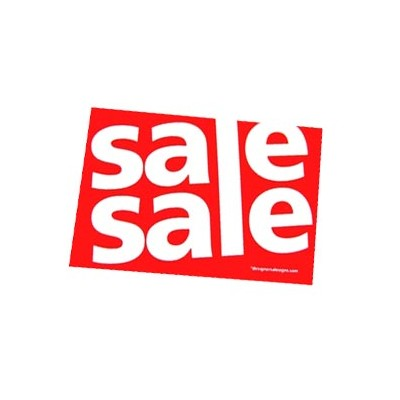"""SALE SALE"" Stickers - 100 per roll"