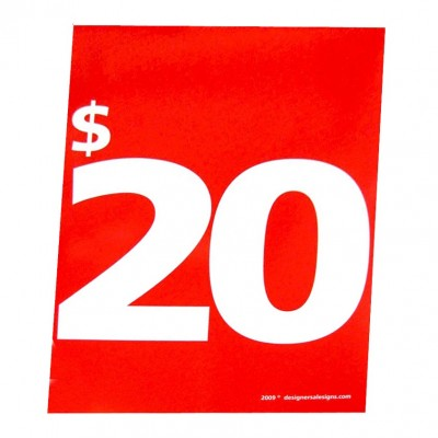 """$20"" - Sign Cards - 5 Pack"