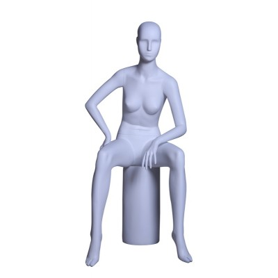 Female Abstract Sitting Mannequin LZM5 White MAT