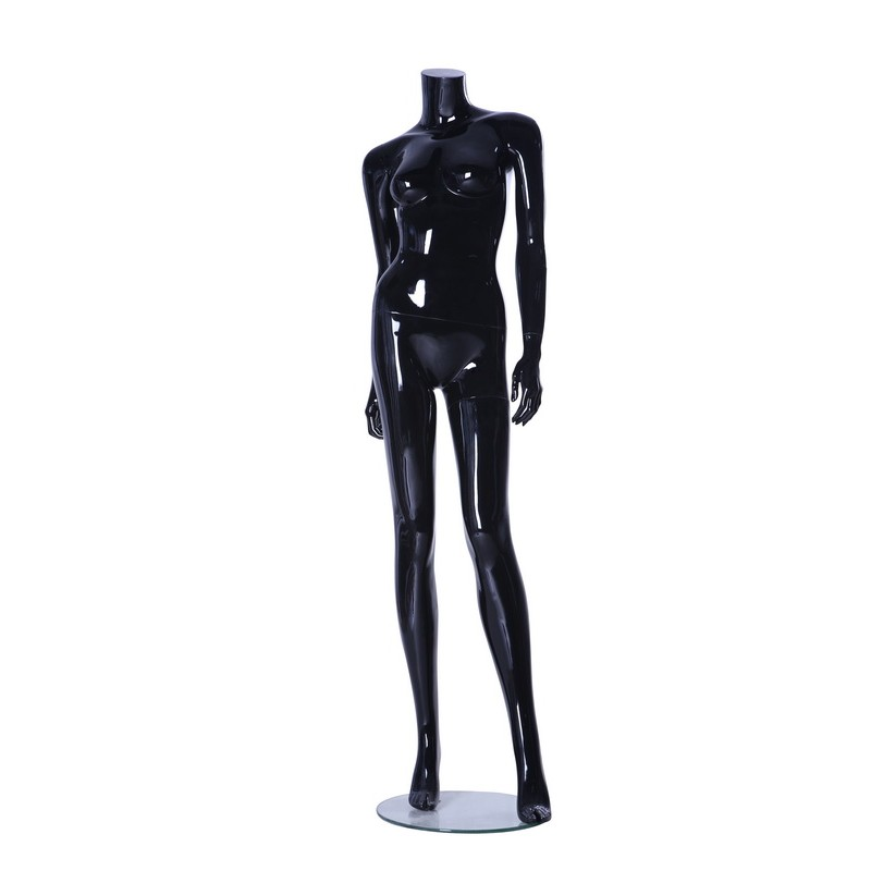 Female Headless Mannequin PL1 Black Gloss
