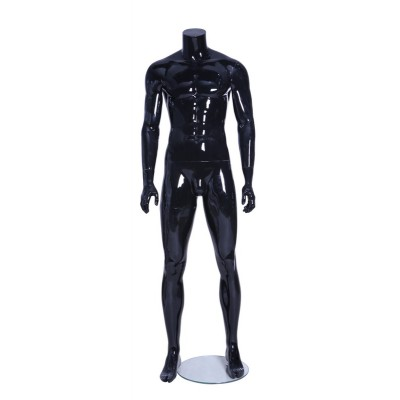 Male Headless Mannequin PM1 Black Gloss