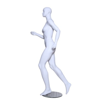 Female Running Mannequin White Mat