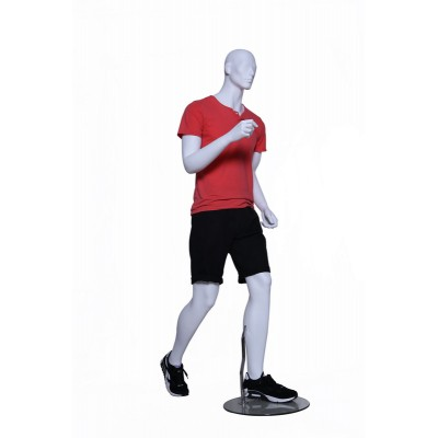 Male Running Mannequin White Mat