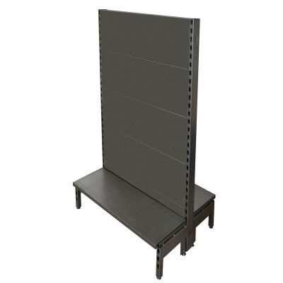 Double Sided Flat Back Gondola Black/Hammertone