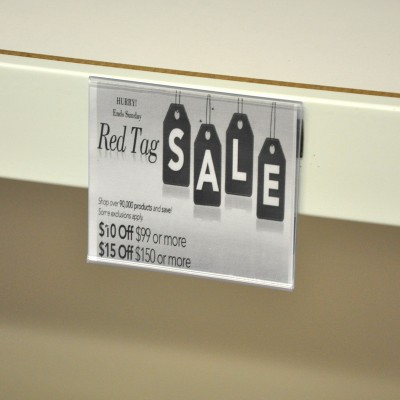 Flat Data Strip Adhesive Sign Holder 93mm x 107mm