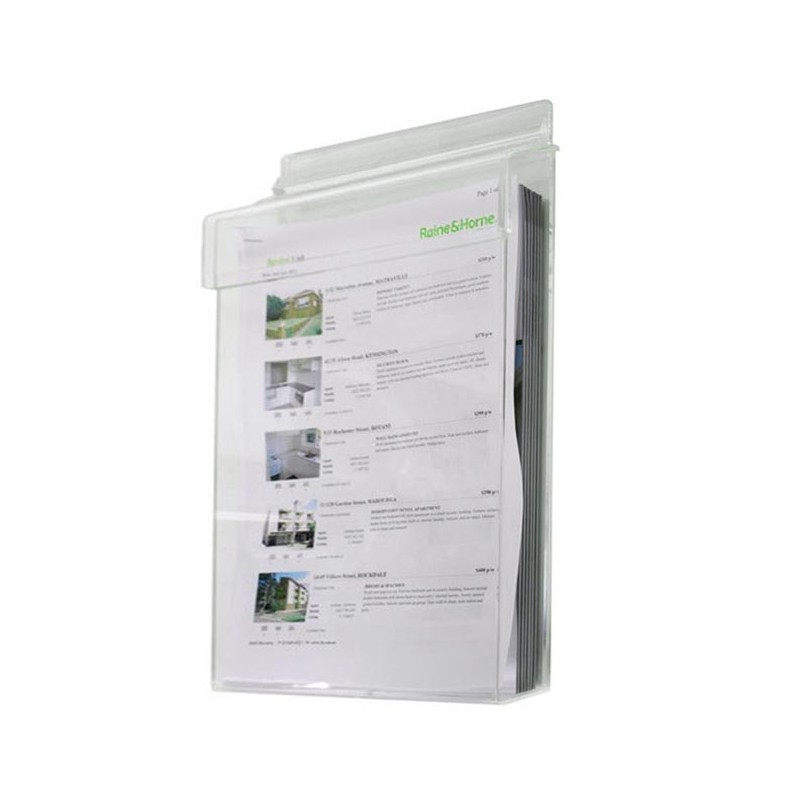 Outdoor Hinged Wall Brochure Holder