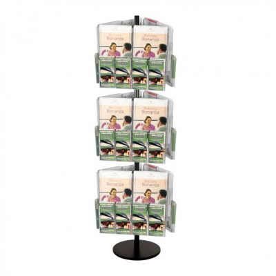 18A4 36DL Brochure Holders Carousel