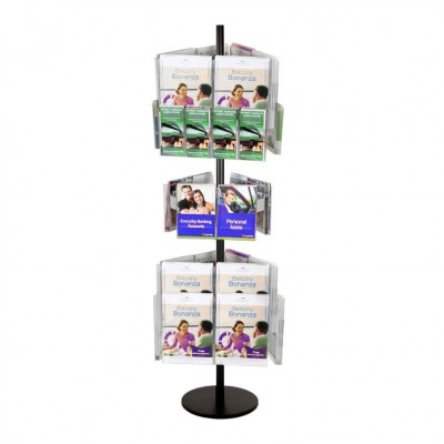 18A4 6A5 12DL Brochure Holders Carousel