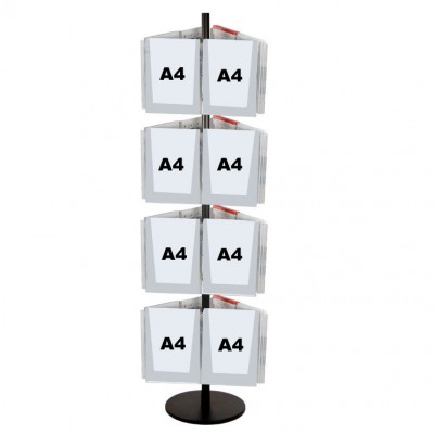 24A4 Brochure Holders Carousel