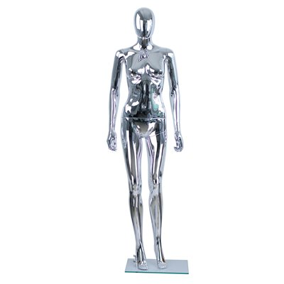 Female Abstract Mannequin CD6 Plastic CHROME