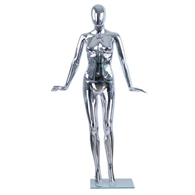 Female Abstract Mannequin CD18 Plastic CHROME