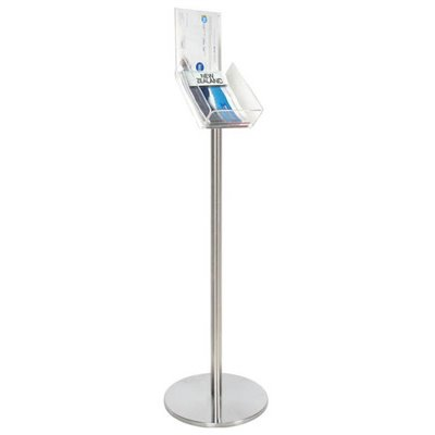 A4 Floor Brochure Holder on Pole