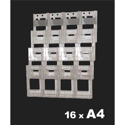 16 A4 Brochure Holder Kit