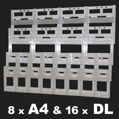 16 DL and 8 A4 brochure holder kit