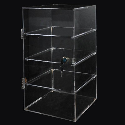 Acrylic 4 Shelf Case 250x245x450mm