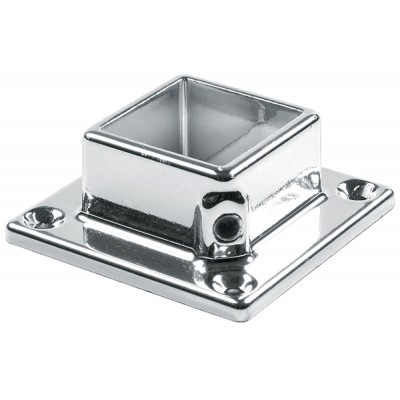 Flange for square tube 25mm Chrome