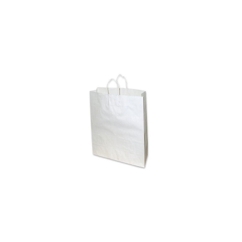 Small White Paper Bag 260x95x350 (pack 100)
