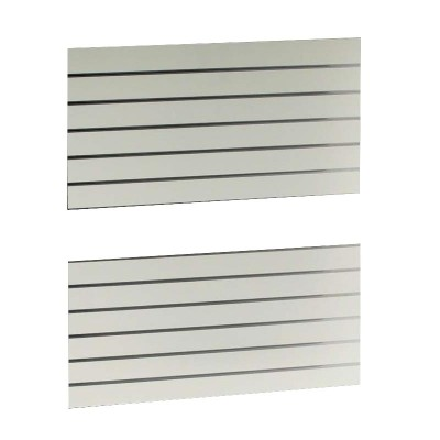 Slat Panel1200x600 White, PAIR