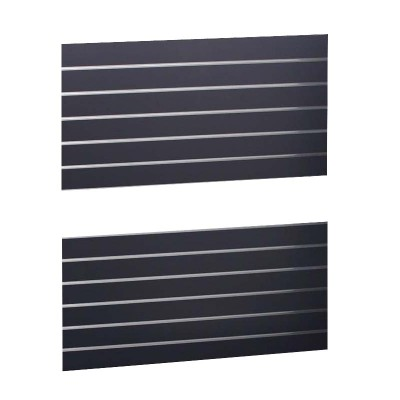 Slat Panel1200x600 Black, PAIR