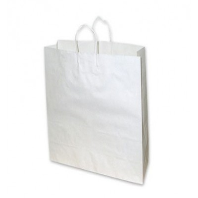 Medium White Paper Bag 340x95x480 (pack 100)