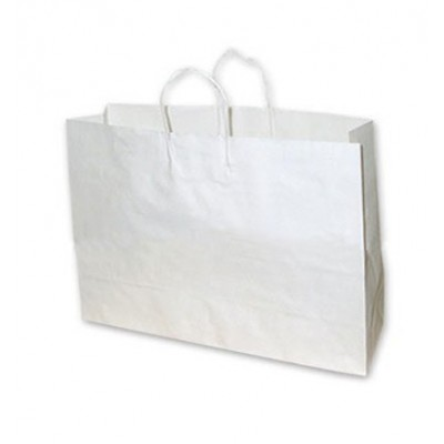 Boutique White Paper Bag 450x90x350 (pack 100)
