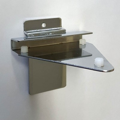 Shelf Bracket for 5mm-10mm glass shelf Chrome
