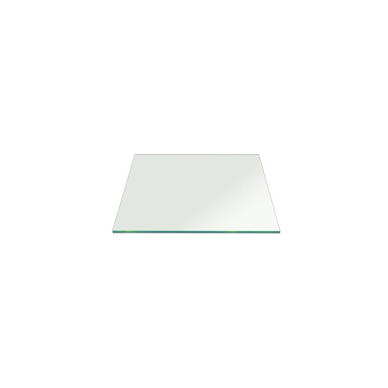 Glass 400x400mm Square Tempered Polished Edges