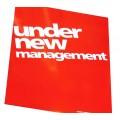 """""""UNDER NEW MANAGEMENT SIGNS"""" Sale Posters - 4 pack"""