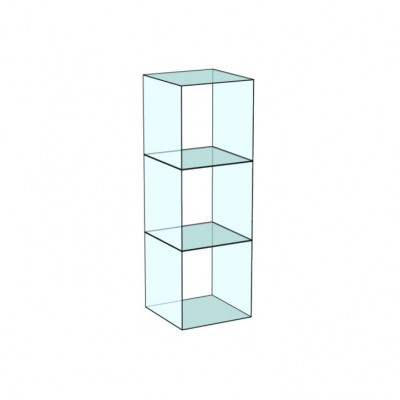 Cube 3 Tower Glass Display