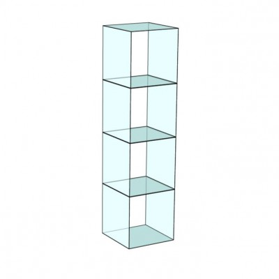 Cube 4 Tower Glass Display