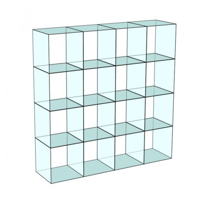 Cube 16 Glass Display 4 wide x 4 high