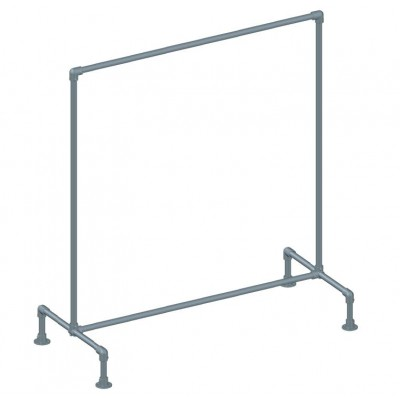 Industrial Single Clothes Rack Galvanised