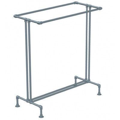 Industrial Double Clothes Rack Galvanised