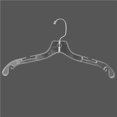 Top Plastic Hanger Clear Budget 430mm