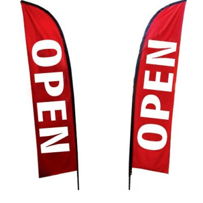 "Outdoor ""OPEN"" - POLYESTER Sale Flag ONLY"