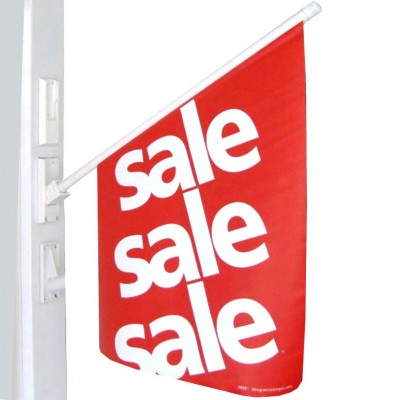"PVC ""SALE"" - Wall Flag - Red 56cm H x 42cm W"