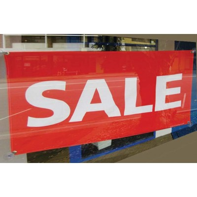 Polyester SALE Flag with suction cups