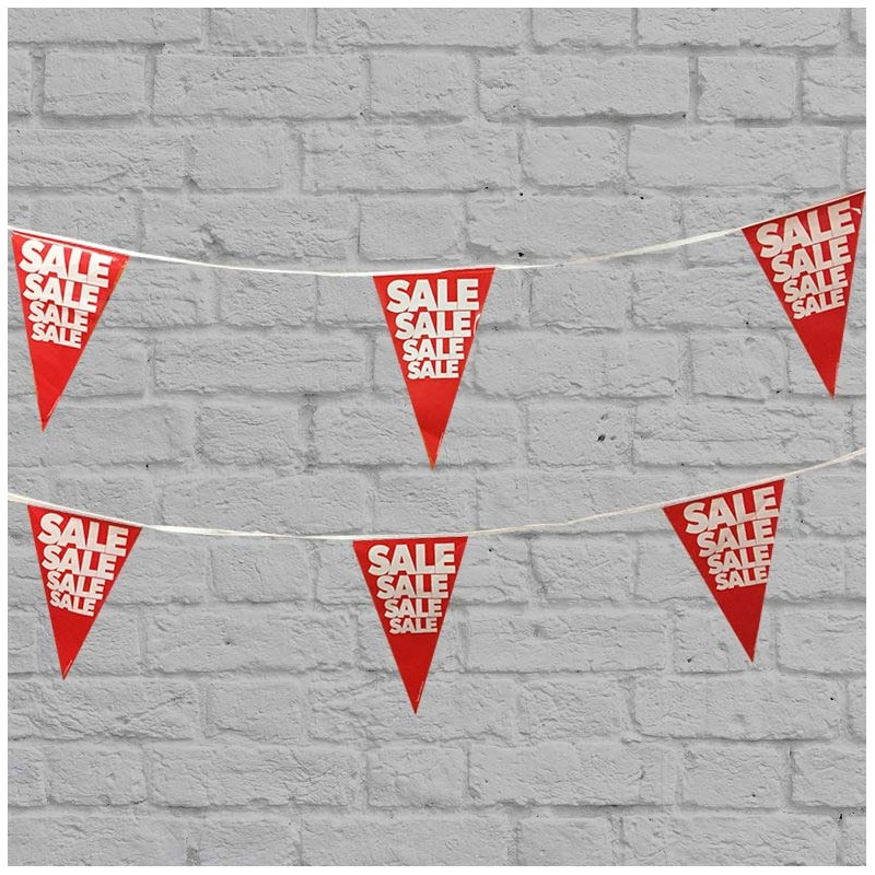 OUTDOOR SALE BUNTING - SALE - 30 mtrs