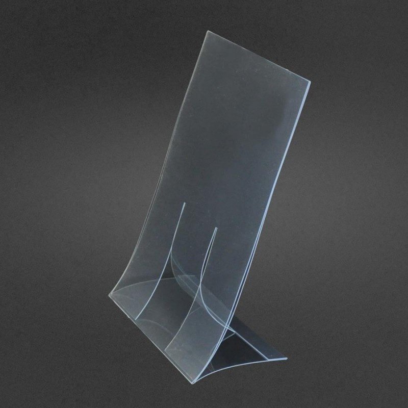 Flat Pack Sign Holder Clear