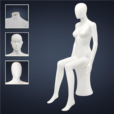 FASHION Sitting Female Mannequin TF2 - No Finish White