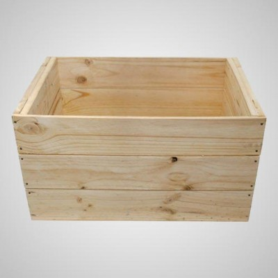 Grocery Display Large Wooden Crate