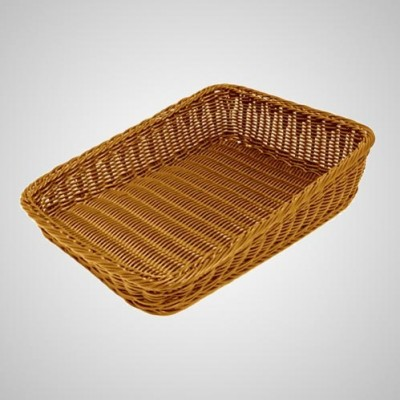 Square Slanting Wicker Basket