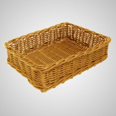Grocery Display Rectangular Wicker Basket Square