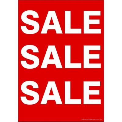 """SALE SALE SALE"" - Sign Cards Pack - A4 Card 5 Pk"