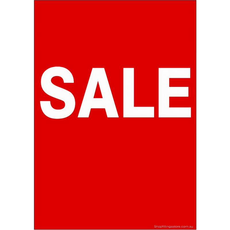 """""""SALE"""" - Sign Cards Pack - 5 Pack"""